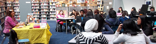 Deborah Gregory in HABLA Youth Mentoring Program at Los Angeles High SChool of Visual and Performing Arts