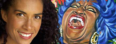 Lili Bernard and Her Celia Cruz Painting