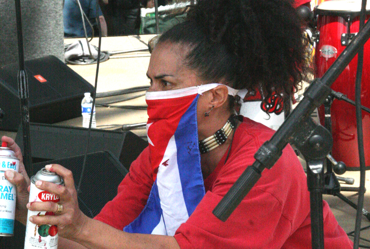 Lili Bernard Performs Song of Che Chango at the 2010 Cuban Music Festival, Echo Park, Los Angeles, CA