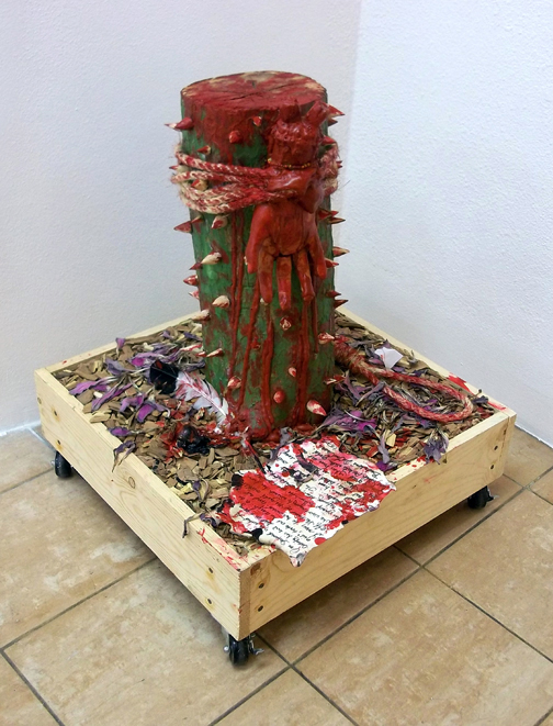 "Legacy of Christopher Columbus Memory Sculpture, Mixed Media Sculpture, 96""x48""x36"" © 2011 by Lili Bernard, Available for purchase"