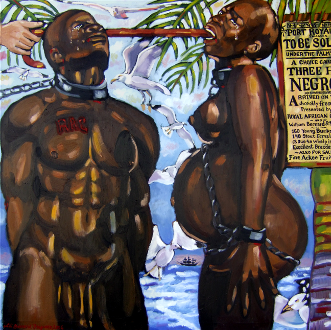 "My Jamaican Ancestors, Oil on Canvas, 48 ""x48"" © 2007 by Lili Bernard, Available for purchase"