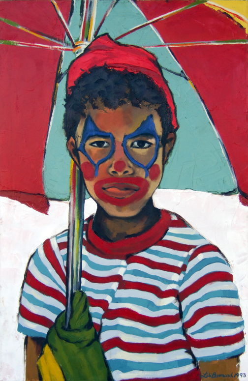 "Brother Gabriel, Oil on Canvas, 40""x20"" © 1993 by Lili Bernard, Available for Purchase"