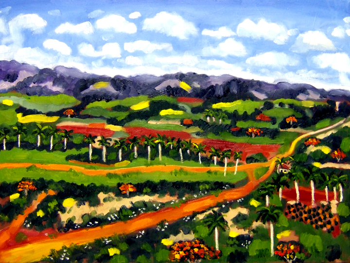 "Cuban Valley, Oil on Canvas, 24""x18"" © 2007 by Lili Bernard, Collection of Toni Ann Johnson"