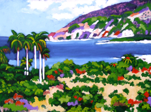 "Santiago de Cuba Beach, Oil on Canvas, 24""x18"" © 2007 Lili Bernard, Collection of Irete Lazo"
