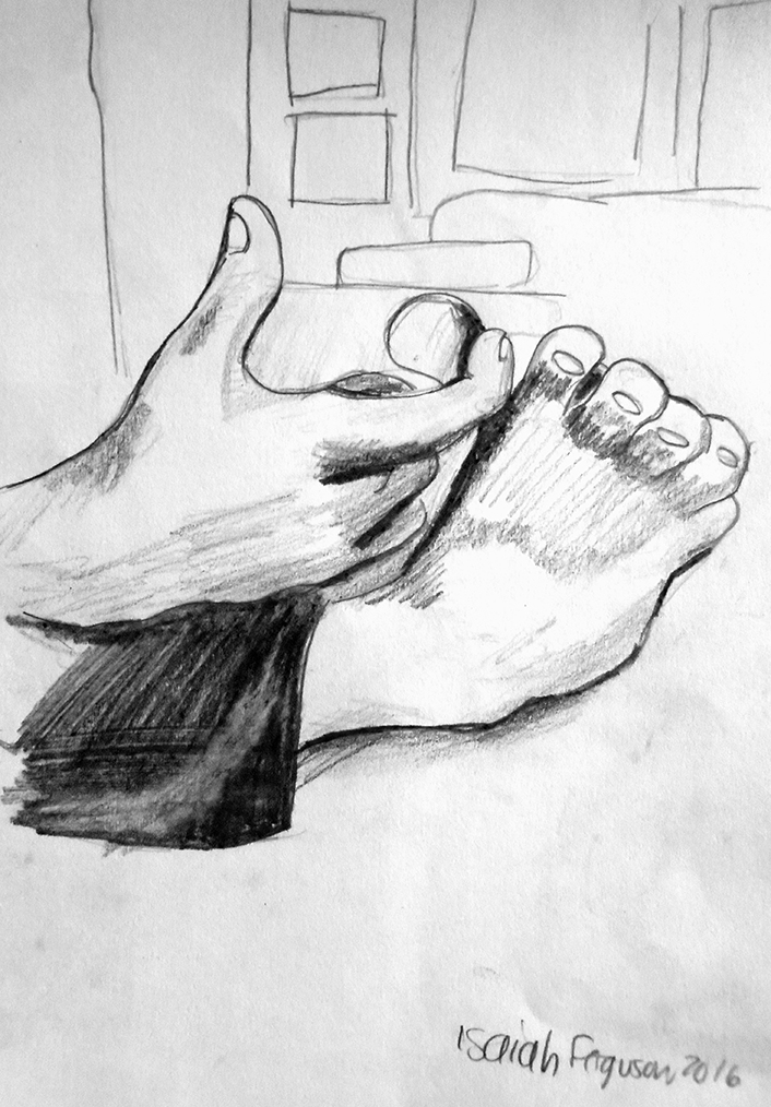Brother's Foot by Isaiah Ferguson, 2016. Click on image to enlarge.