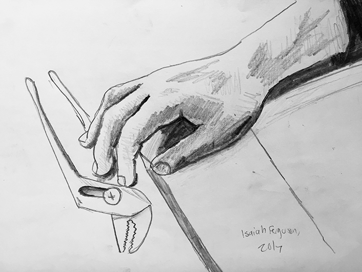 Brother's Hand and Wrench by Isaiah Ferguson, 2017