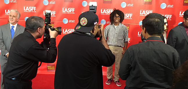Three of Isaiah's films were screened as official selections in the L.A. Student Film Festival, June 2015