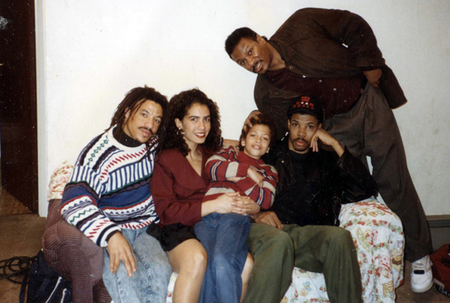 Behind the scenes of the BBC film Murder in Oakland with my Co-Stars, Ving Rhames, Eriq. LaSalle, Algin Ford and Little Edmond. I played the female lead, Lili Kennedy.