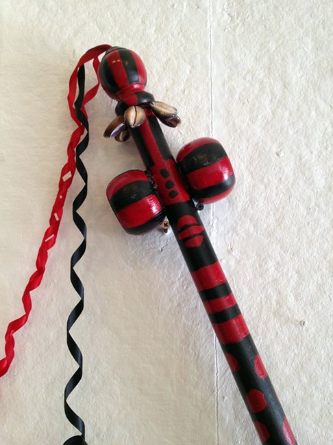 Elegua's Staff, Mixed Media, by Lili Bernard 2013
