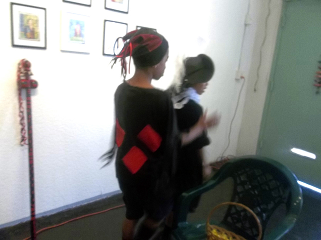 My sons Uriel as Elegua and Joshua as Santo Niño de Atocha