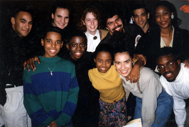 Backstage of the Cosby show with my with Cosby Kids, my husband Franklin, my brotheer Dan and some friends who came to the live taping