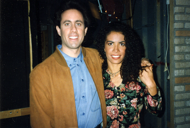 Backstage with Jerry Seinfeld, during the filming of my episode
