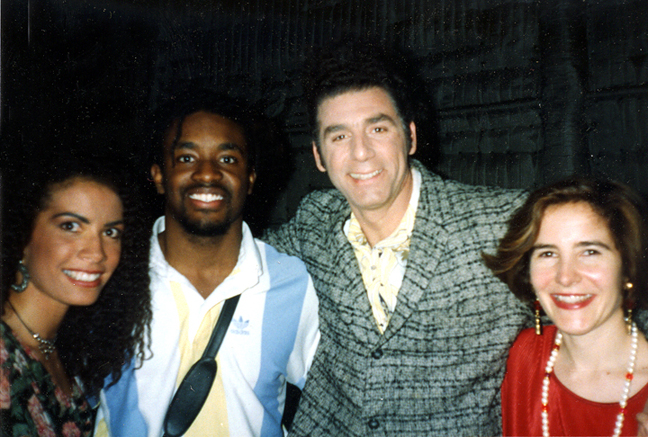 Backstage on Seinfeld with Michael Richards (Kramer), his girlfriend and my husband Franklin