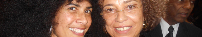 Lili Bernard and Angela Davis, Free Angela Davis and All Political Prisoners, Pan African Film Festival LA, Feb 17, 2013