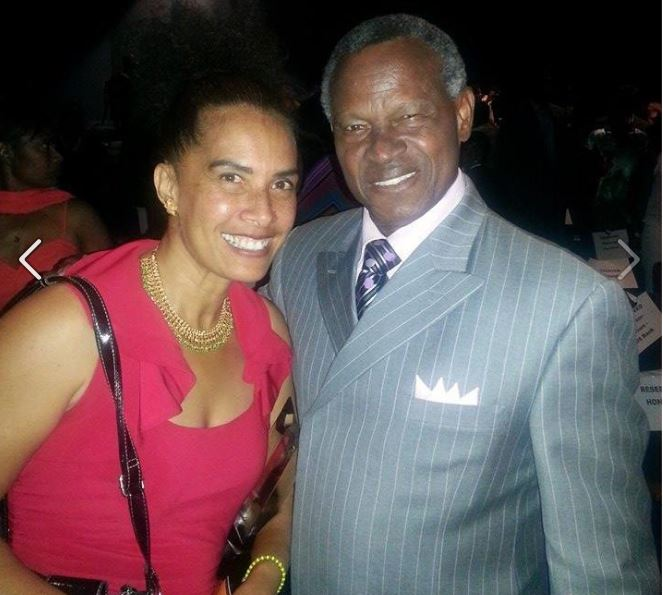 With fellow-honoree, Manny Mota, former Dodgers Coach and MLB player, October 2014, Los Angeles, CA