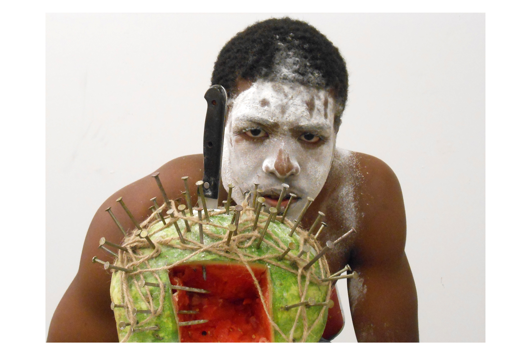 "Lili Bernard. Ain't Funny Warrior 4: My Son Rafael, 2014. Digital Photograph, 12""x16"""