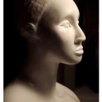 "Toni Scott Nubia, 2004. Carrara Marble, 14"" x 18"" x 10"""