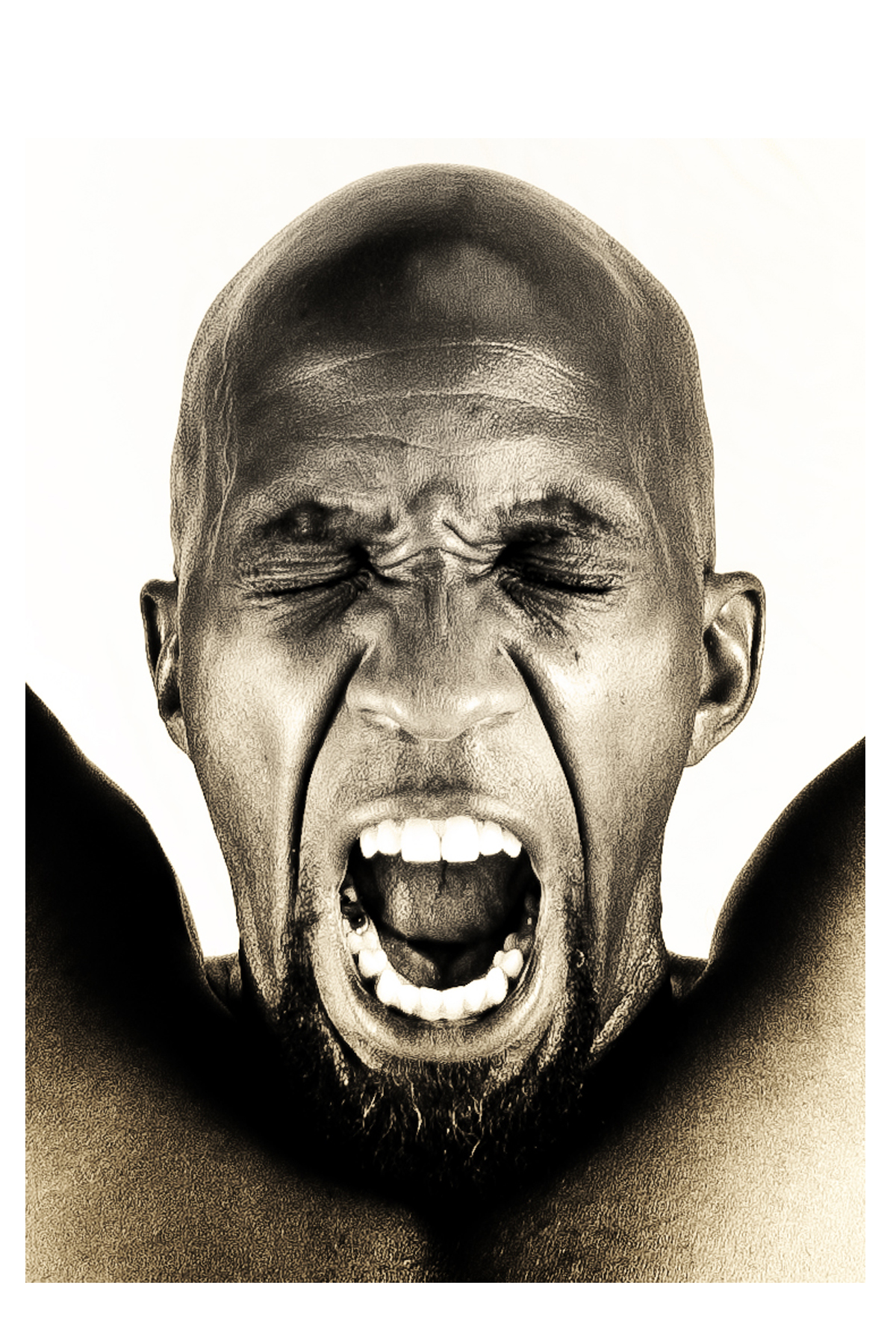 "Toni Scott. Cry of the Black Man, 2009. Metal Print, 20 x 30"" x 2"""