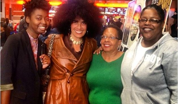 Screening of a documentary film on me called, Women of West Indies: Lili Bernard, at Pan African Film Festival, 8 Feb 2014 (left to right poet Tonya Ingram, me, Attorneys Pam Snowden and Isabelle Gunning)