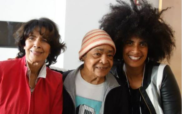 With legendary artists Samella Lewis and Artis Lane at the Getty-BAILA Roundtable, 4 Nov 2014