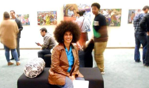 My work on exhibit in the Downtown LA Artwalk, 14 Mar 2014