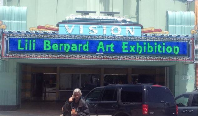 The marquis on the Leimert Park Vision Theatre which was the venue for my Otis MFA Thesis Show, 27 April 2014