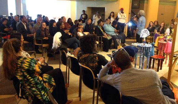 Tonya Ingrams performs spoken word at my MFA Thesis Show, 27 April 2014