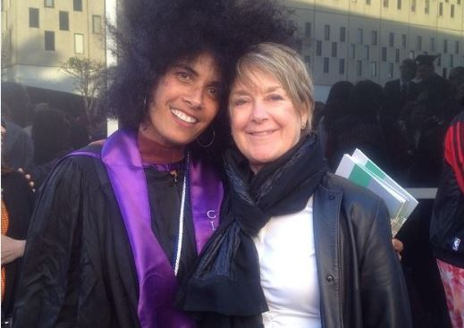 MFA Graduation at Otis with my department head, Suzanne Lacy, 11 May, 2014
