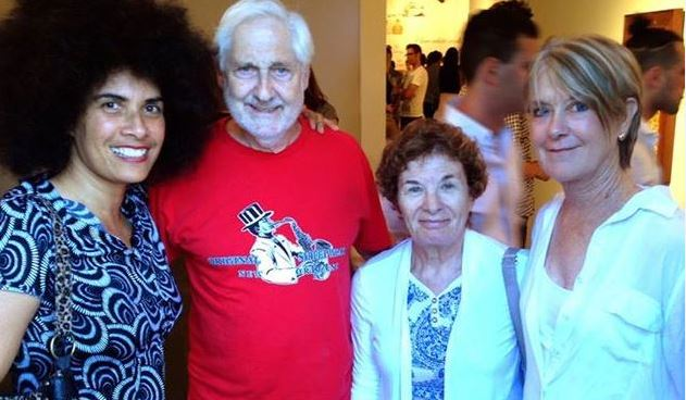 Paul & Ruth Von Blum and Suzanne Lacy came to my art show opening, 18 August 2014