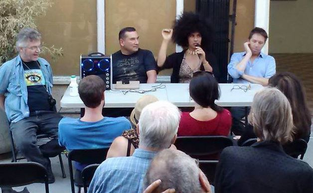 On a panel discussion on painting at art critic-gallery owner Mat Gleason's Coagula Curatorial art gallery, 17 Aug 2014