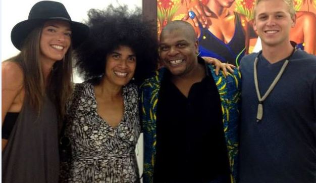 At Kehinde Wiley's art show opening, 8 Sep 2014