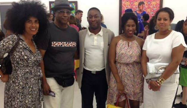 With my former professor, artist Ulysses, and Franklin and Jessica Sirmans at Kehinde Wiley's art show opening, 8 Sep 2014