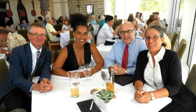 WIth Getty Museum heads, planning the BAILA (Black Artists in Los Angeles Roundtable, 17 September 2014