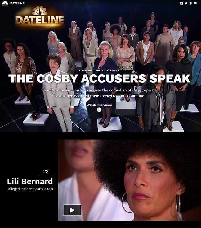 Watch Dateline: The Cosby Accusers Speak Individual Interviews