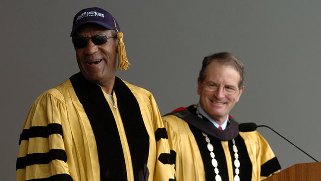 Cosby Receiving Johns Hopkins Honorary Degree 2004