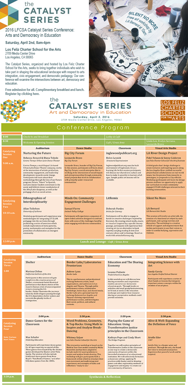 Catalyst Series Conference Schedule 2016