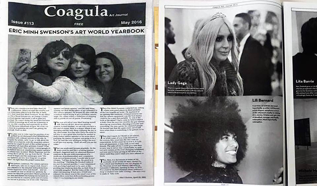 Coagula Curatorial, May 2016 Issue: Eric Minh Swenson's Art World Yearbook