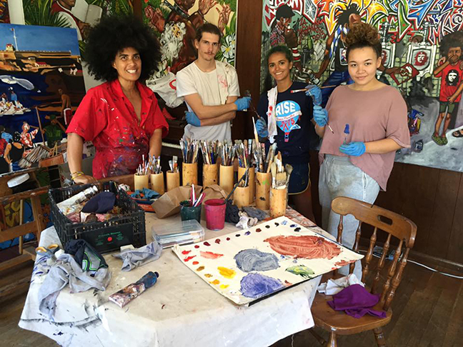 Lili Bernard Art Studio College Student Interns, Painting Practicum Summer/Fall 2017, Los Angeles, CA