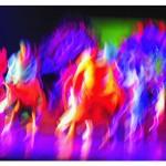 "Bernard Hoyes. Block Party Ritual Tabloid, 2012. Digital Photography, 4""x6"""