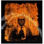 "J Michael Walker. Catfish Man Grew Himself a Third Eye, 2014. Digital Photomontage, 25"" x 24"""