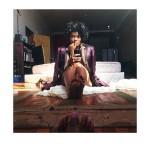 """Numa Perrier.  Vintage Gaultier - Self Portrait, 2014. iPhone Photography, 6""""x4"""""""