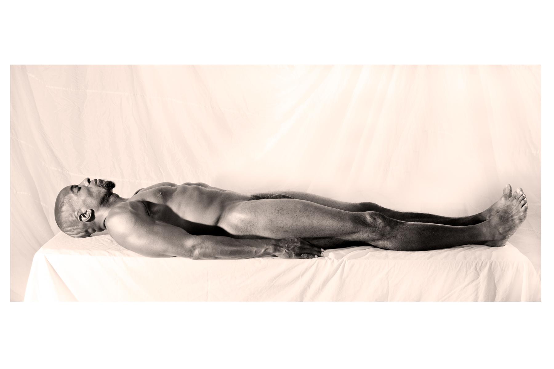 """Toni Scott. Black Man, Roll Call, 2009. Metal Print, 20"""" x 30"""" x 2"""""""